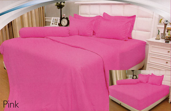 - Sprei Dan Bed Cover Vallery Pink