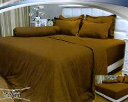 Grosir Sprei VALLERY - Sprei Dan Bed Cover Vallery Coffee
