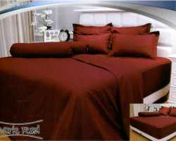 Grosir Sprei VALLERY - Sprei Dan Bed Cover Vallery Dark Red