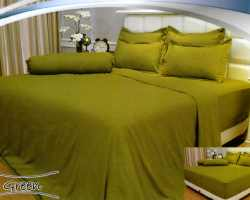 Grosir Sprei VALLERY - Sprei Dan Bed Cover Vallery Green