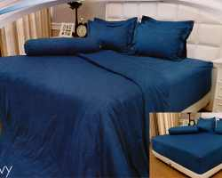 Grosir Sprei VALLERY - Sprei Dan Bed Cover Vallery Navy