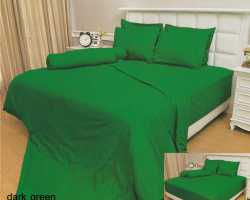 Grosir Sprei VALLERY - Sprei Dan Bed Cover Vallery Dark Green