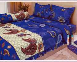 Grosir Sprei LADY ROSE - Sprei Dan Bed Cover Lady Rose Motif Indigo