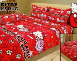 Grosir Sprei INTERNAL - Sprei Dan Bed Cover Internal Motif Hello Kitty Little Miss Hug