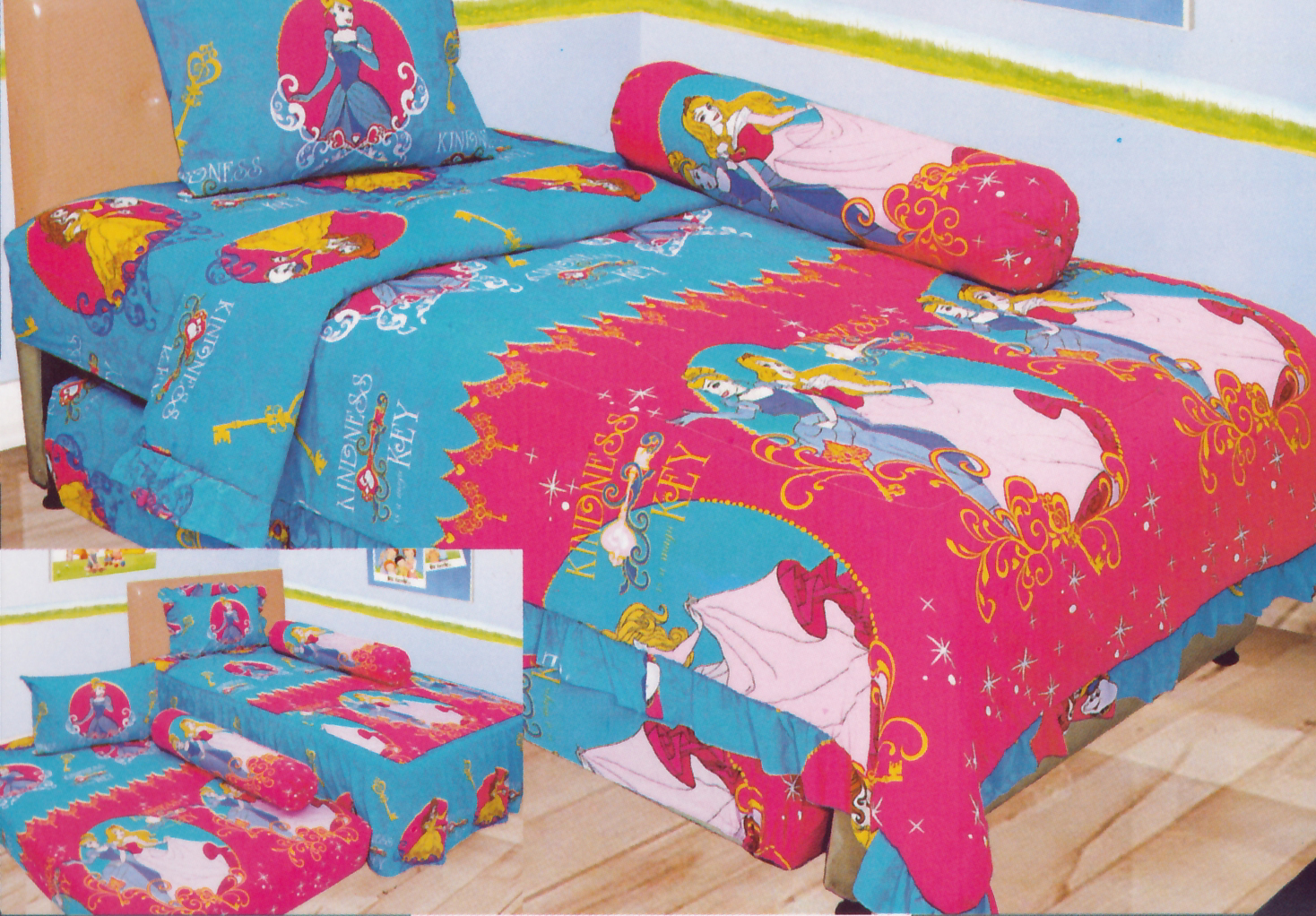 Sprei INTERNAL SINGLE - Sprei Dan Bed Cover Internal Single Motif Princess