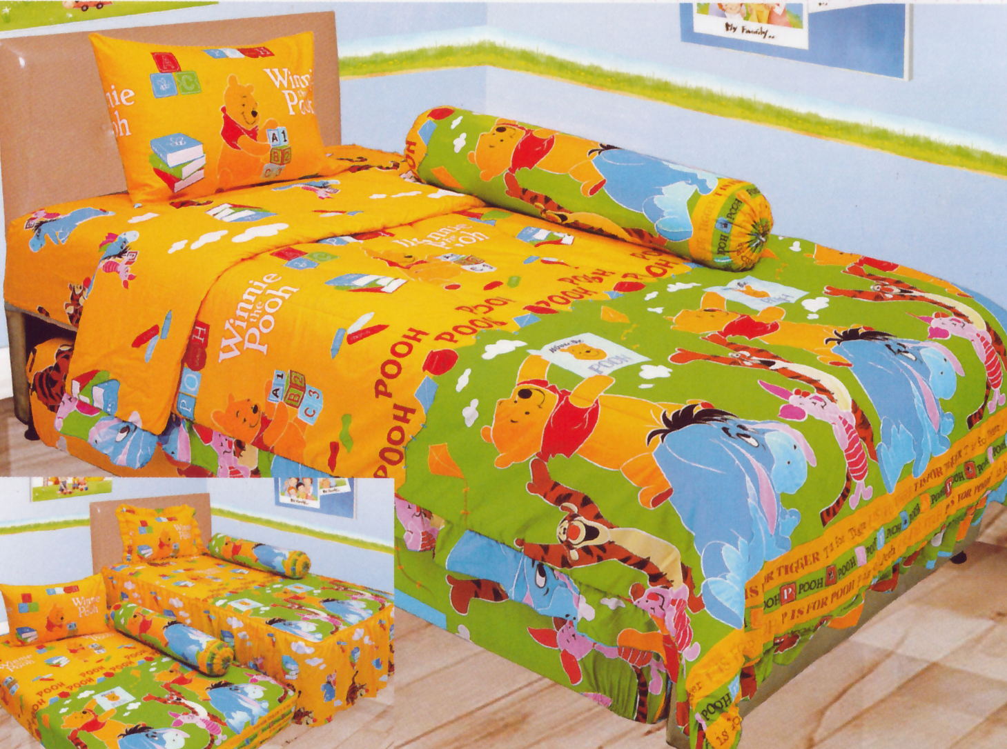 Sprei LADY ROSE SINGLE - Sprei Dan Bed Cover Lady Rose Single Winnie The Pooh
