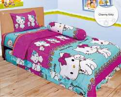 Grosir Sprei LADY ROSE SINGLE - Sprei Dan Bed Cover Lady Rose Single Charmy Kitty