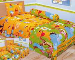 Grosir Sprei LADY ROSE SINGLE - Sprei Dan Bed Cover Lady Rose Single Winnie The Pooh