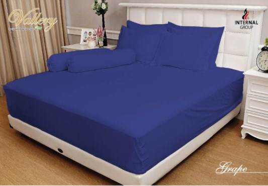 Sprei VALLERY - Sprei Dan Bed Cover Vallery Grape
