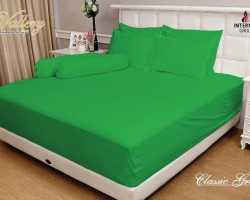 Grosir Sprei VALLERY - Sprei Dan Bed Cover Vallery Classic Green