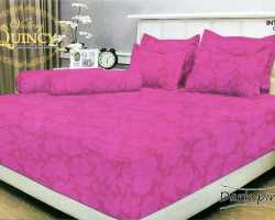Grosir Sprei VALLERY - Sprei Dan Bed Cover Vallery Dark Pink