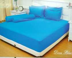 Grosir Sprei VALLERY - Sprei Dan Bed Cover Vallery Diva Blue