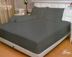 Grosir Sprei VALLERY - Sprei Dan Bed Cover Vallery Grey