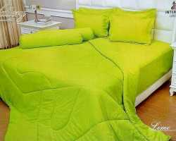 Grosir Sprei VALLERY - Sprei Dan Bed Cover Vallery Lime