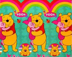 Grosir SELIMUT LADY ROSE - Selimut Lady Rose Winnie The Pooh