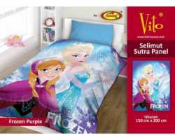 Grosir Selimut Vito Sutra Panel - Grosir Selimut Vito Sutra Motif Frozen Purple
