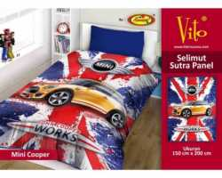 Grosir Selimut Vito Sutra Panel - Grosir Selimut Vito Sutra Motif Mini Cooper