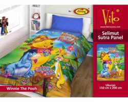 Grosir Selimut Vito Sutra Panel - Grosir Selimut Vito Sutra Motif Winnie The Pooh