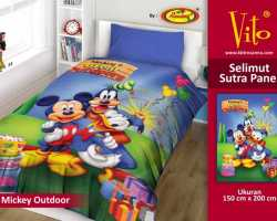 Grosir Selimut Vito Sutra Panel - Grosir Selimut Vito Sutra Motif  Mickey Outdoor
