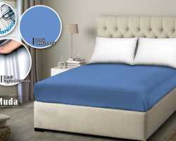 Grosir SPREI WATER PROOF MONALISA - Biru Muda