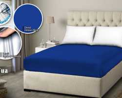 Grosir SPREI WATER PROOF MONALISA - Biru Tua
