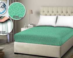 Grosir SPREI WATER PROOF MONALISA - Hijau Motif