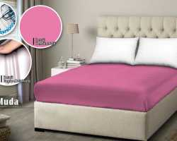 Grosir SPREI WATER PROOF MONALISA - Pink Muda