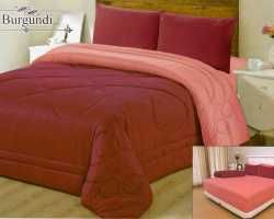 Grosir Sprei VALLERY - Sprei Dan Bed Cover Vallery Burgundy