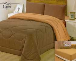 Grosir Sprei VALLERY - Sprei Dan Bed Cover Vallery Latte