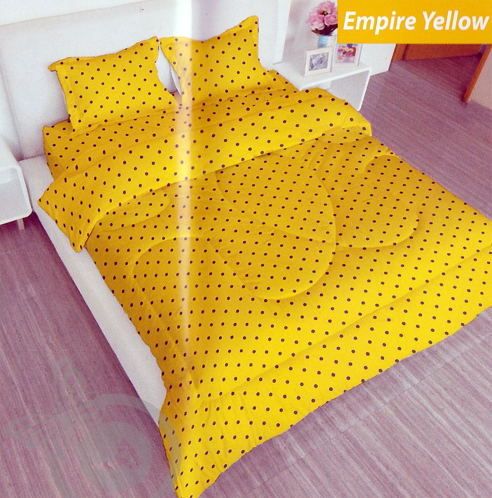 Sprei LADY ROSE - Grosir Sprei Lady Rose Empire Yellow