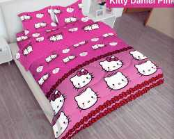 Grosir Sprei LADY ROSE - Grosir Sprei Lady Rose Kitty Daniel Pink