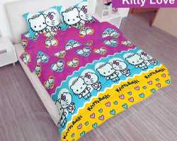 Grosir Sprei LADY ROSE - Grosir Sprei Lady Rose Kitty Love