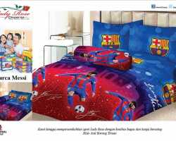 Grosir Sprei LADY ROSE - Grosir Sprei Lady Rose Barca Messi
