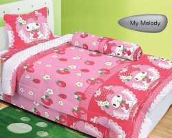 Grosir Sprei LADY ROSE SINGLE - Sprei Dan Bed Cover Lady Rose Single My Melody