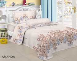 Grosir Sprei RED ROSE - Grosir Koleksi Sprei Redrose Motif Amanda Single