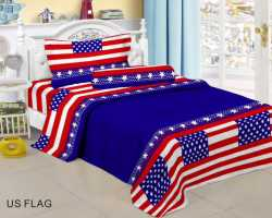 Grosir Sprei RED ROSE - Grosir Koleksi Sprei Redrose Motif Usa Flag Single